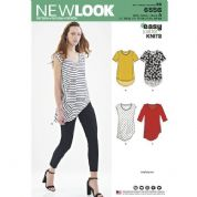 6556 New Look Pattern: Misses' Asymmetric Shirt